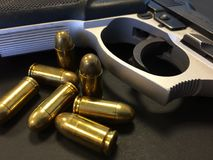 Gun and Bullets Stock Photos