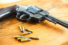 Gun with bullets Royalty Free Stock Images