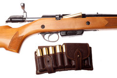 Gun with bullets Royalty Free Stock Photography