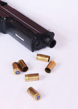 Gun and bullets Royalty Free Stock Photography
