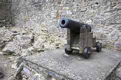 Gun in the Cahir Castle Royalty Free Stock Photo