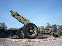 Gun cannon in bunker Royalty Free Stock Photo