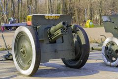 Gun, cannon of the Second World War royalty free stock photo