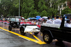 Gun carriage coffin Mr Lee Kuan Yew Singapore Royalty Free Stock Photo