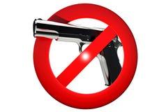 Gun Carrying Prohibited stock illustration
