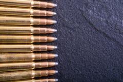Gun cartridge 8mm caliber Royalty Free Stock Images