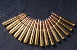 Gun cartridge 8mm caliber Royalty Free Stock Photography