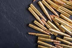 Gun cartridge 8mm caliber. Bullets . Gun cartridge 8mm caliber background Royalty Free Stock Photos