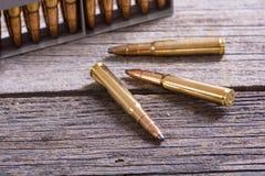 Gun cartridge 8mm caliber. Bullets . Gun cartridge 8mm caliber background Stock Photos