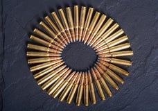 Gun cartridge 8mm caliber Stock Images