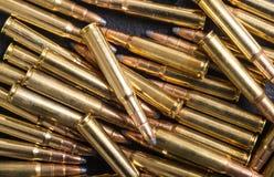 Gun cartridge 8mm caliber. Bullets . Gun cartridge 8mm caliber background Stock Image