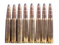 Gun cartridge 8mm caliber Royalty Free Stock Photo
