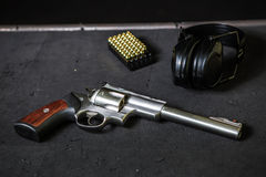 Gun with cartridges Royalty Free Stock Image