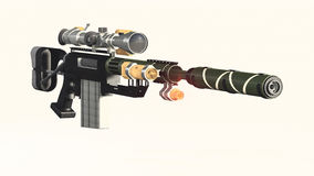 GUN. This is the CheyTac M200. i saw it on the show future weapons Royalty Free Stock Photos