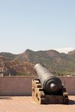 Gun in the city castle. Of Cartagena Royalty Free Stock Photo