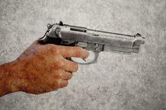 Gun On Classic Background at Bangkok Stock Image