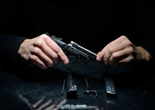 Gun cleaning Royalty Free Stock Images