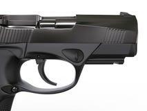 Gun - closeup shot - side view Stock Photos