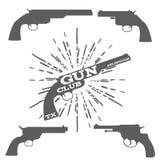 Gun Club Design Elements Vector Illustration Royalty Free Stock Photos