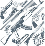 Gun Collection Stock Photography