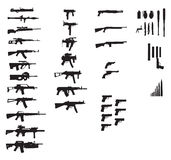 Gun collection Royalty Free Stock Photos
