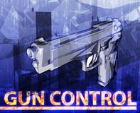 Gun control Abstract concept digital illustration Stock Image