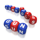 Gun control debate and second amendment Royalty Free Stock Photos