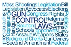 Gun Control Laws Word Cloud Stock Photos