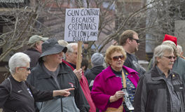 Gun Control Protesters in Asheville Royalty Free Stock Image
