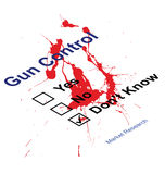 Gun control questionnaire. Blood splattered Market research gun control questionnaire Stock Image