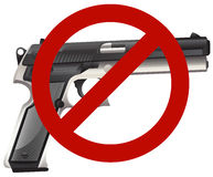 Gun control sign with firegun Royalty Free Stock Image