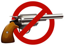 Gun control sign with shotgun. Illustration Stock Image