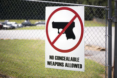 Gun Control Sign at the Workplace Royalty Free Stock Image
