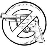 Gun control sketch Stock Image