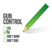 Gun control survey concept illustration design Royalty Free Stock Image