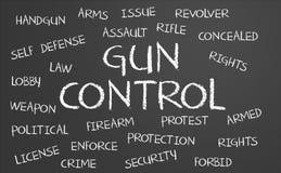 Gun Control word cloud royalty free stock images