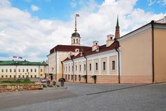 The Gun court yard. The Kazan Kremlin Stock Photography