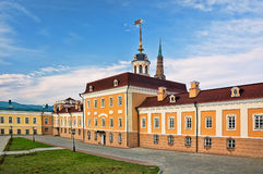 Gun courtyard in kremlin of Kazan, Russia Stock Image