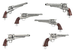 Gun cowboy collection Royalty Free Stock Images