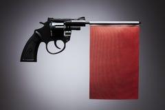 Gun crime concept of hand pistol Stock Images