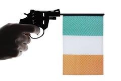 Gun crime concept of hand pistol Royalty Free Stock Photography