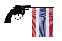 Gun crime concept of hand pistol Royalty Free Stock Images