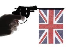 Gun crime concept of hand pistol Royalty Free Stock Photo