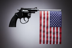 Gun crime concept of hand pistol Royalty Free Stock Photos