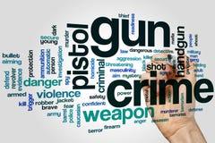 Gun crime word cloud concept Stock Photo