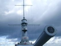 Gun of the cruiser Royalty Free Stock Image