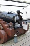Gun deck on HMS Warrior. Stock Images