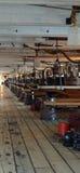 Gun deck on HMS Warrior. Royalty Free Stock Image