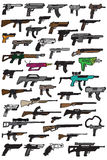 44 Gun Doodles Royalty Free Stock Photo