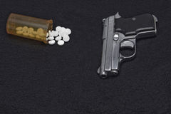 GUN AND DRUGS Royalty Free Stock Photos